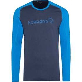 Norrøna Fjørå Equaliser Lightweight Longsleeve Shirt Heren, indigo night